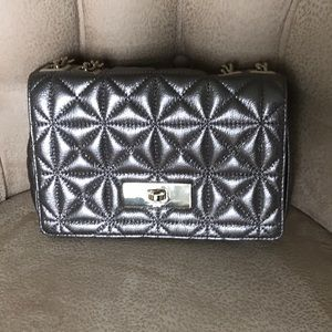 Kate Spade Silver metallic shoulder bag